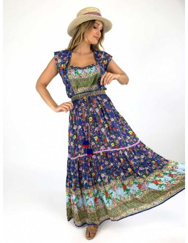 Vestido largo boho chic, bohemio, gipsy online.