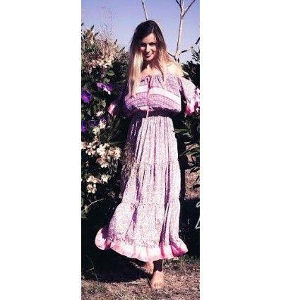 Vestido Boheme rosa Freelove Ibiza