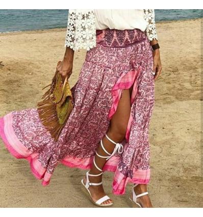Falda asimétrica rosa claro