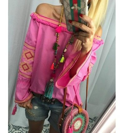 Blusa boho pink